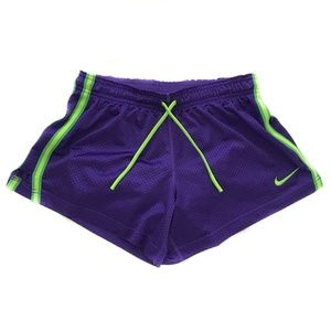 NIKE SHORTS PURPLE AND LIME